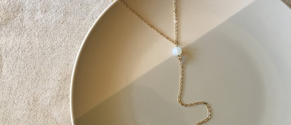 MINA Single Bead Lariat