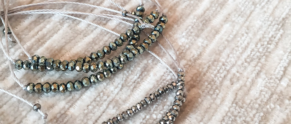 SADE Grey Friendship Bracelet