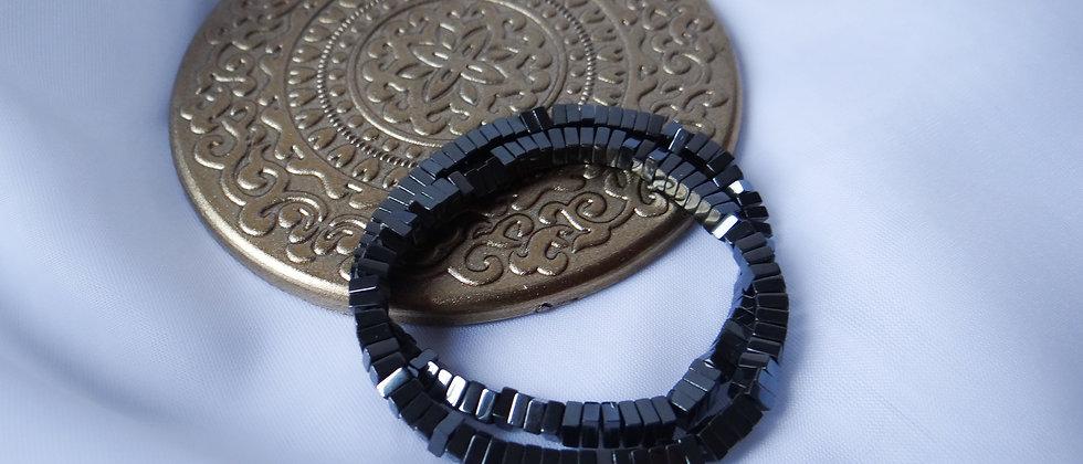 Gunmetal Hematite Square Bracelet