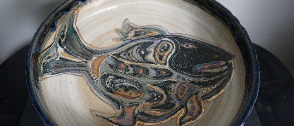 Handmade Metallic Fish Dish