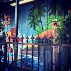 Cuban artwork on the Van Nuys Blvd Side of APQR Arleta #food #foodporn #restaurant #centralamerican