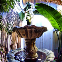 The relaxing patio water fountain