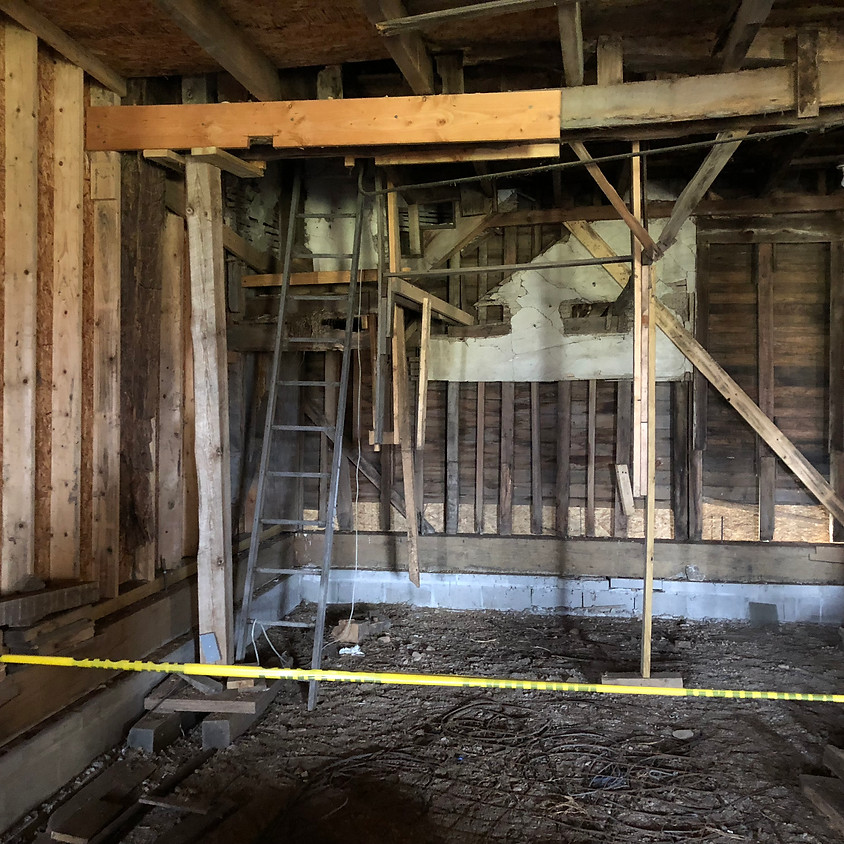 Post and Beam Restoration at Historic 1816 Farmington Quaker Meetinghouse Museum