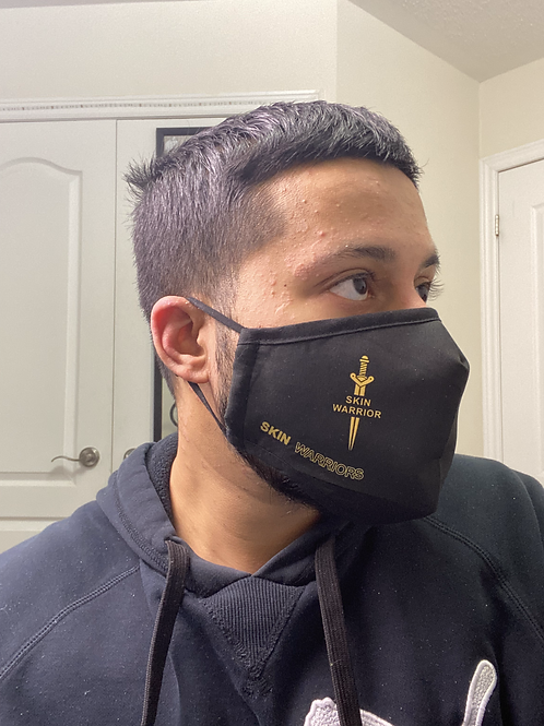 SKIN WARRIOR Face Mask (black and gold)