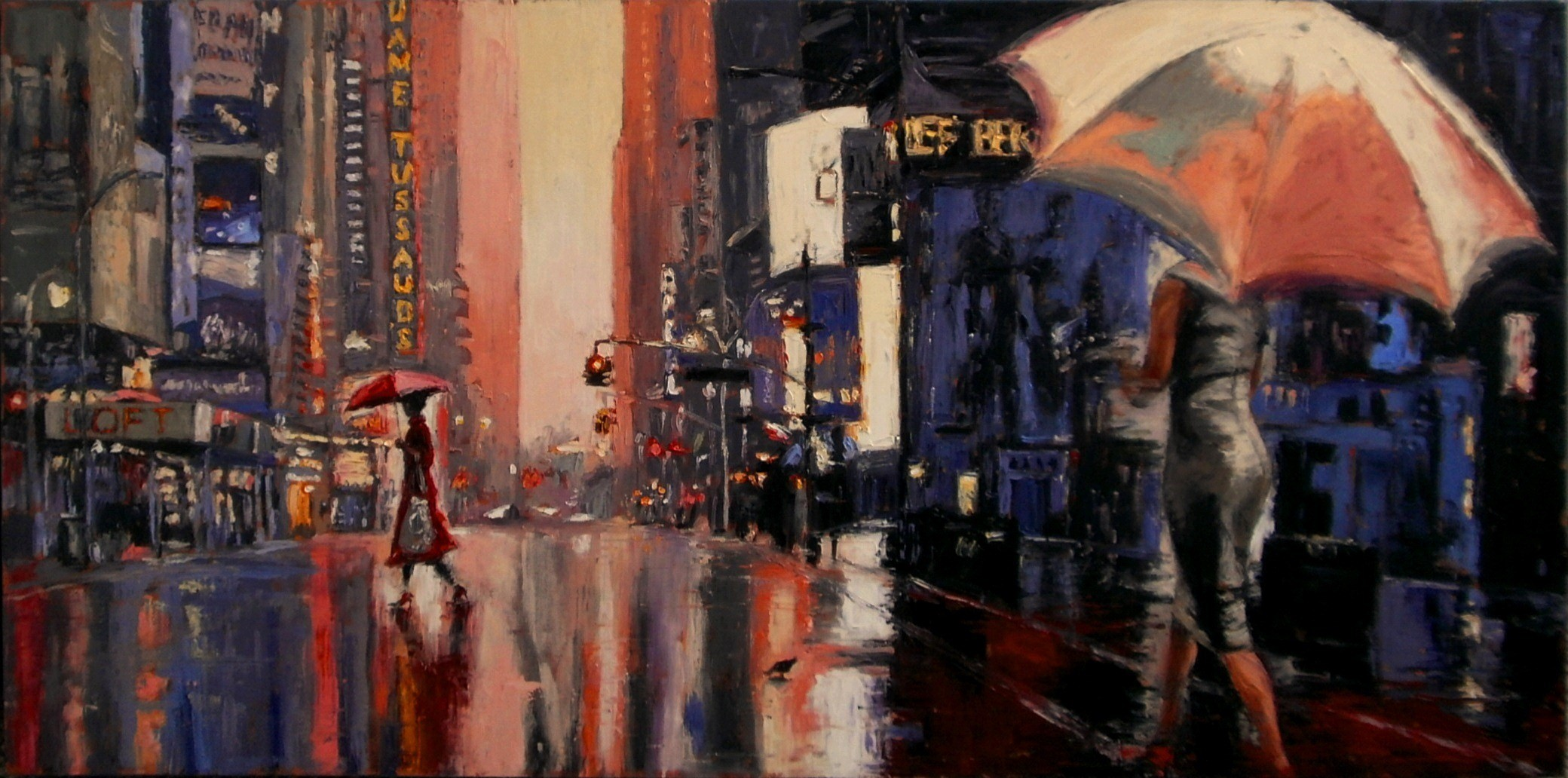 """People, Rain, NYC 2""   SOLD"