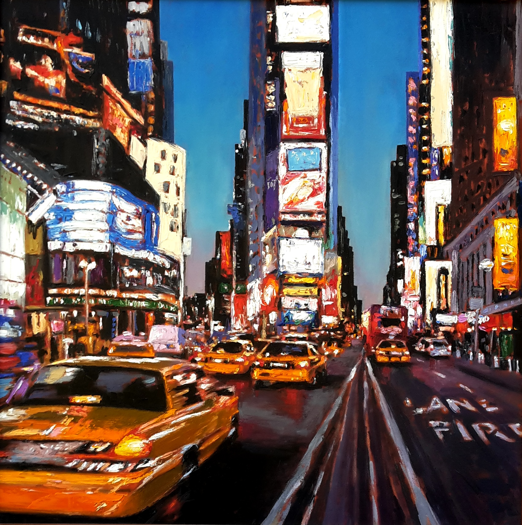 """Times Square At Dusk"" SOLD"