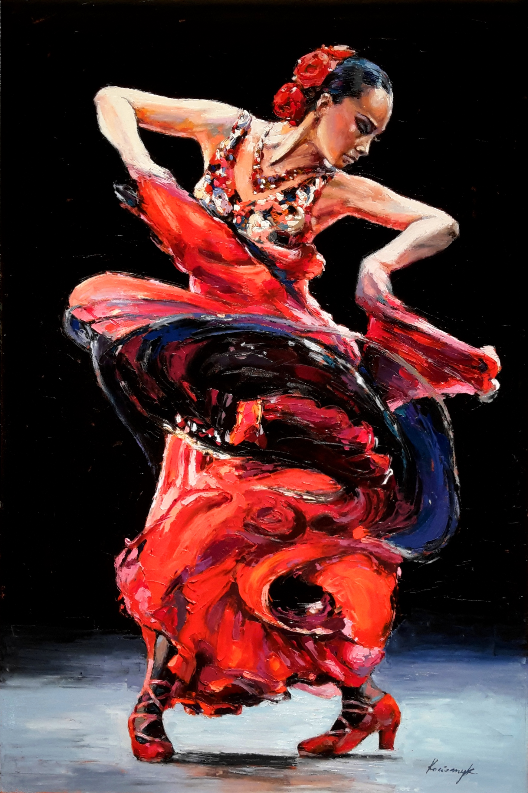 """Flamenco Dancer 3""   SOLD"