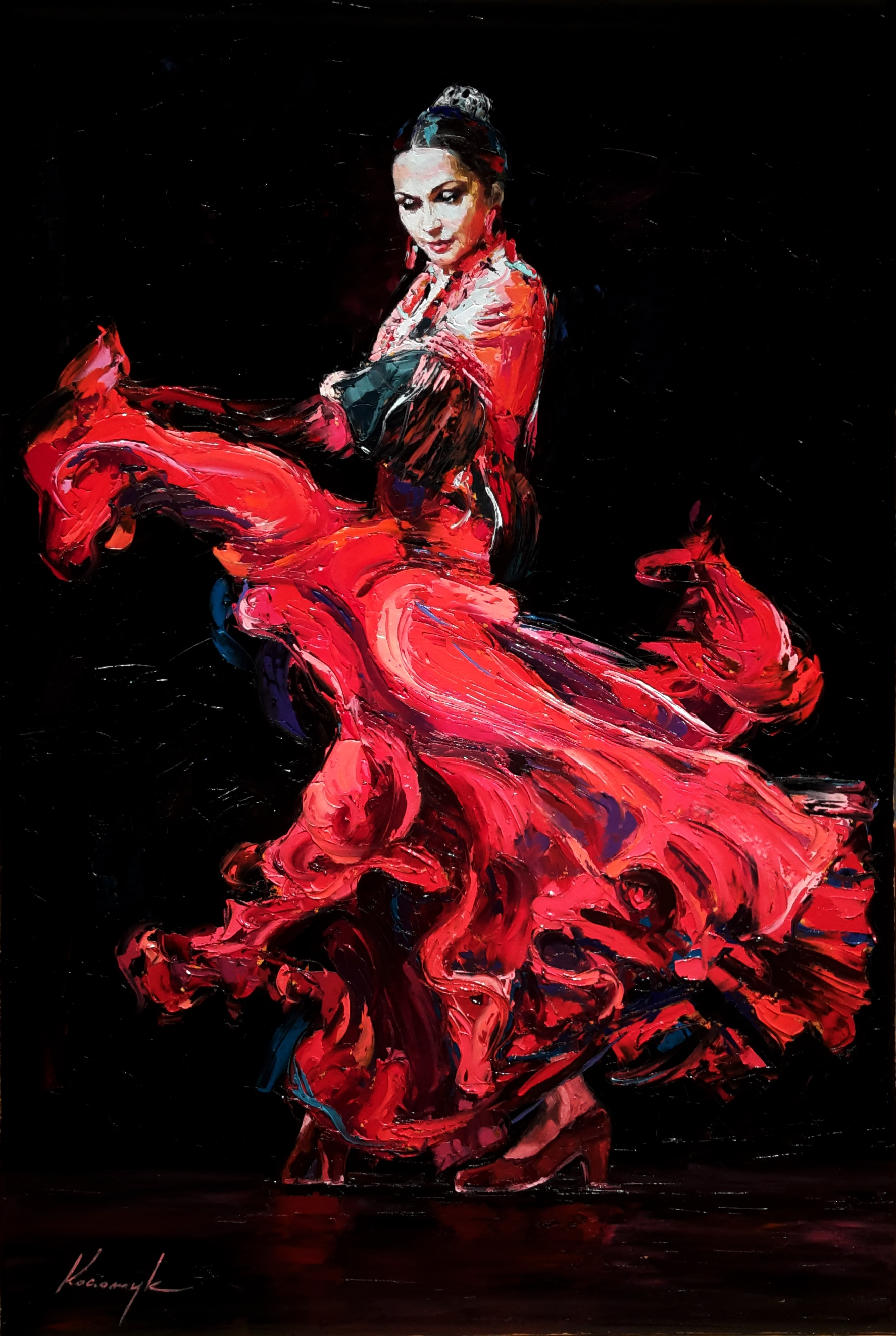 """Flamenco Dancer 2""   SOLD"