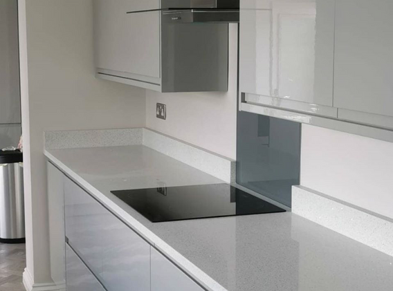 Grey Glass Splashback