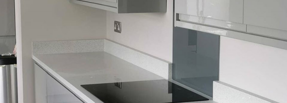 Grey Glass Splashback