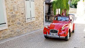 Ruth and Stuart at Village Castigno, Assignan, France