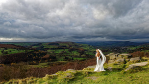 Joe and Rachael at Hathersage Church and The Maynard Hotel, Derbyshire Peak District