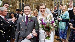 Marc and Caroline at Woodland Manor, Clapham, Bedfordshire