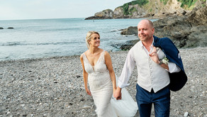 Lawrence and Claire's Coastal Wedding at Sandy Cove Hotel, Coombe Martin Bay, Devon