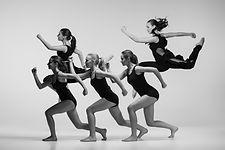 The group of modern ballet dancers.jpg