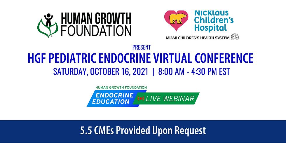 Human Growth Foundation (HGF) Pediatric Endocrine Virtual Conference