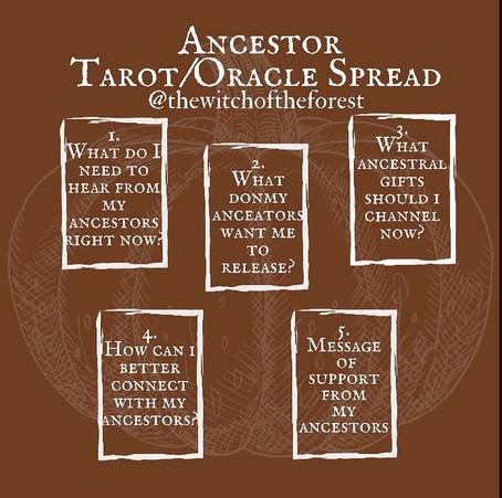 Samhain Blessings ~ Ancestor Oracle Reading