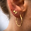 Thumbnail: Hannah Textured Shape Stud Earrings - Gold Vermeil