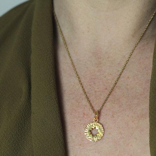 Star Amulet Pendant- Fairmined Gold Vermeil