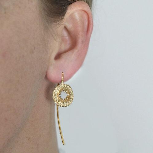 Star Amulet  Earrings- Fairmined Gold Vermeil