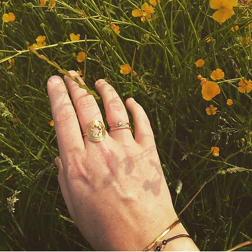 Star Amulet Ring - 9ct Recycled Yellow Gold