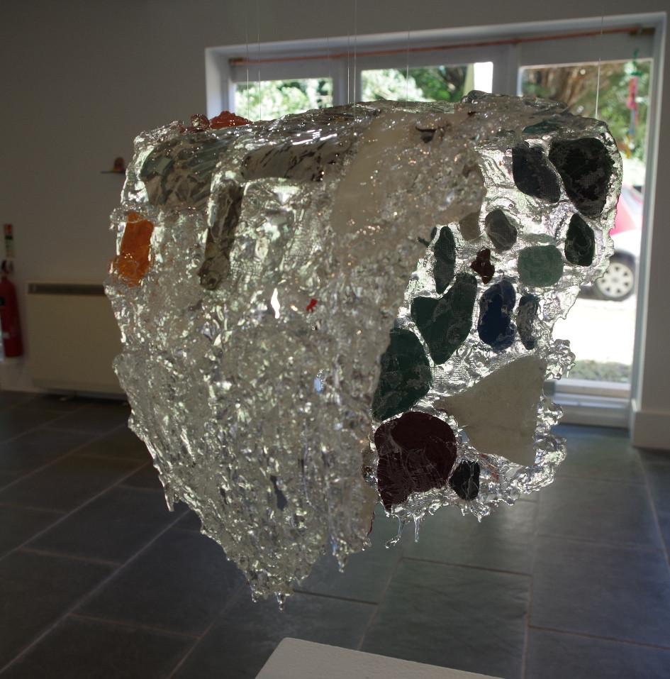 Resin wave sculpture