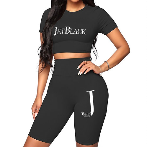 Gym Set (Black) - 2 Piece