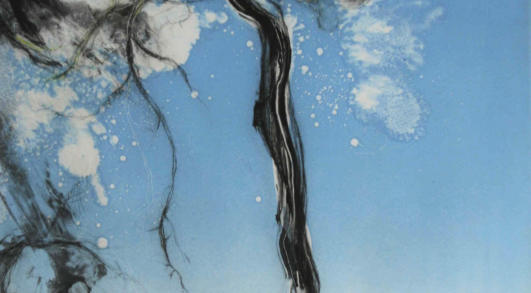 'Tall Pine, Summer Breeze in Blue No1'