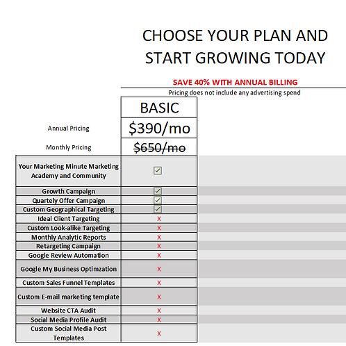 Marketing Campaign - Basic Plan
