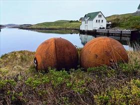 Rorbu and sea mines.