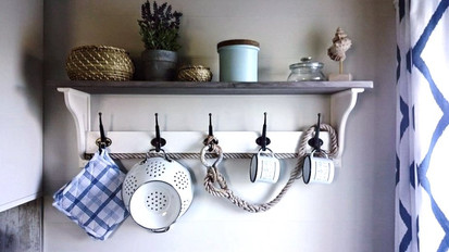 Ornamental shelf kitchen
