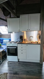 cooker and sink