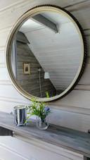 Detail, mirror in bedroom
