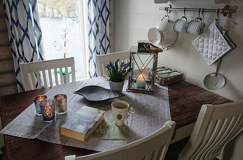 Dining table at Sørbu