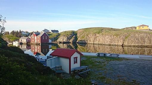 View from  Pernillehytta towards the strait