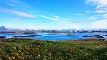 Looking east: Bulandet, Værlandet, Alden and the mainland in the distance.