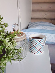 Coffee on the bed. <3