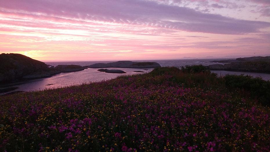 Solnedgang på Nordre Gjelsa.