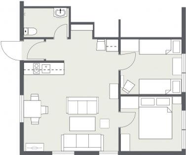 Pernillebu II, Floor plan