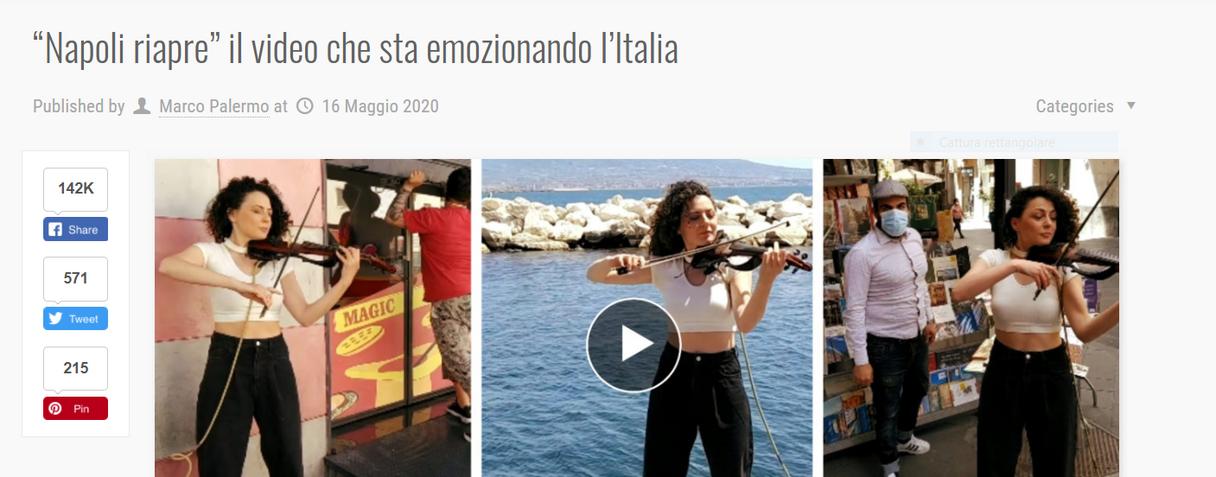 Visit Naples Stella Manfredi Violinista Napoli
