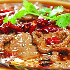 Braised Beef Fillets in Chili Sauce 水煮牛