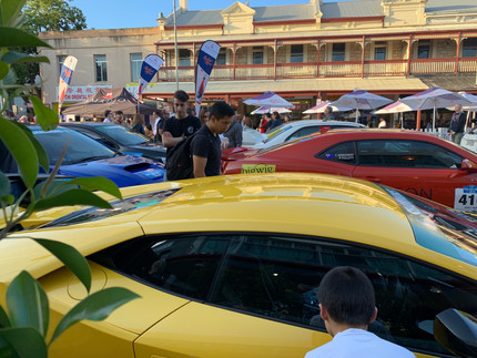 Gouger Street packed with cars