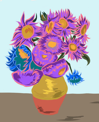 Van Gogh, Pink & Purple