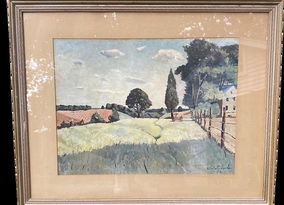 "Nicolai Cikovsky Print, ""Springtime in Virginia"""