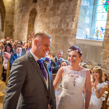 Lois & Andy // Wedding Photography at St Oswald's Church & Whinstone View