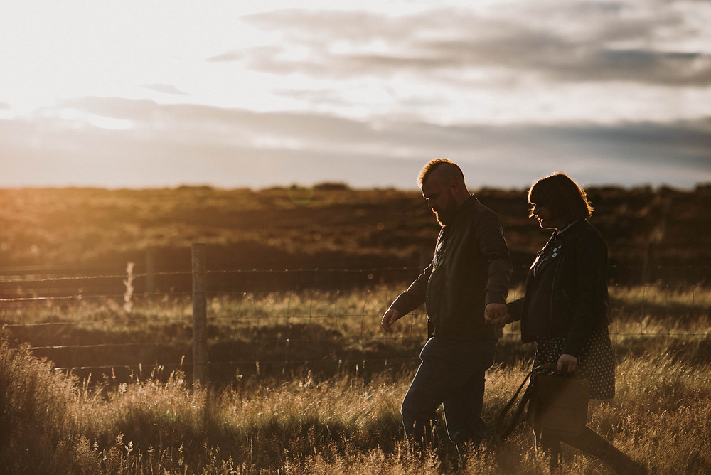 golden hour couple on north york moors photo