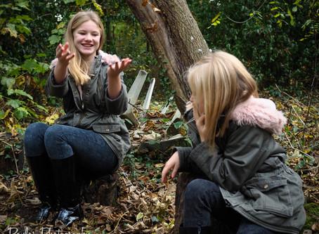 Sisterly Woodland Shoot