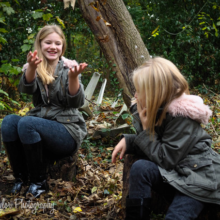 Sisterly Woodland Shoot