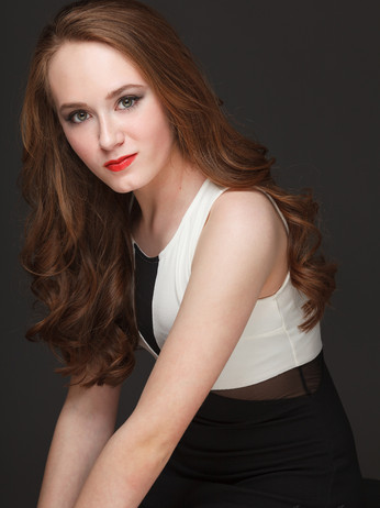 Model portrait makeup
