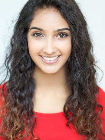 Teen actress headshot makeup